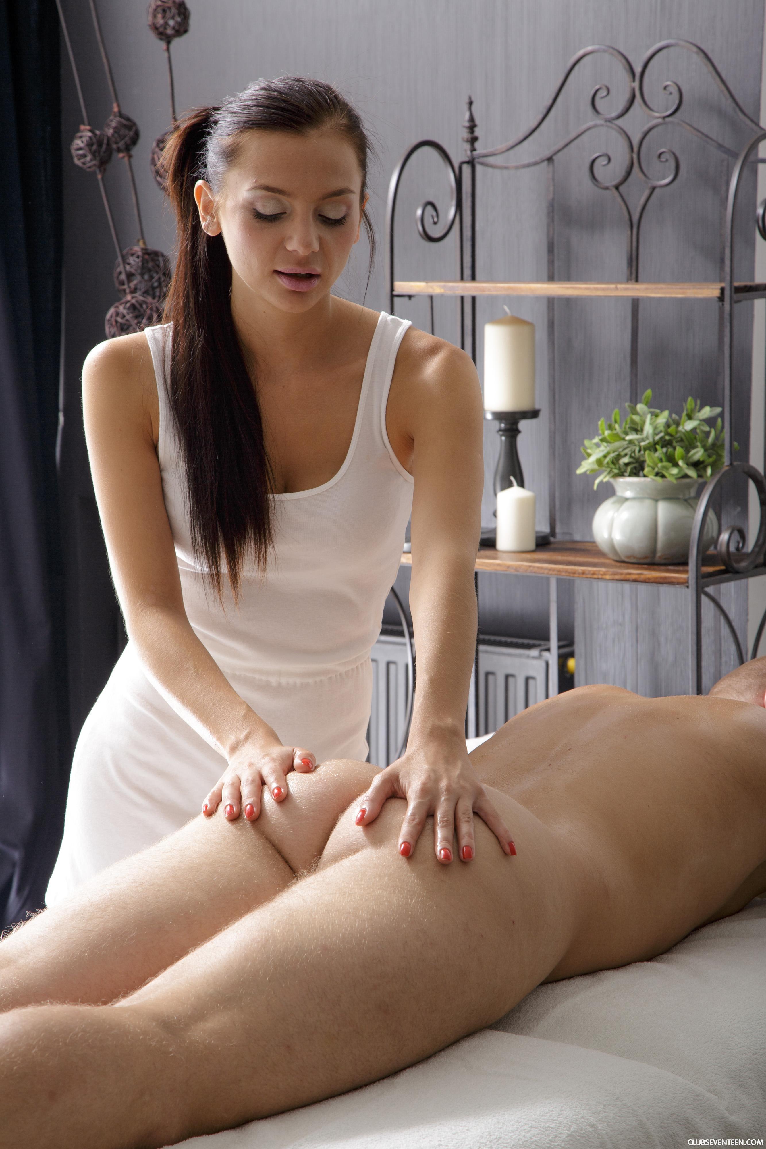Shy Teen Seduced Massage